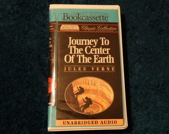 Vintage Journey To The Center of The Earth Bookcassette Audio Book Cassettes Jules Verne 1993 Unabridged 6 Tapes