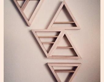 Equilateral modular shelving