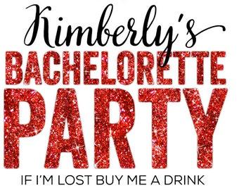 customizable Buy Me a Drink, Champagne, Bachelorette, Temporary Tattoo, Bachelorette Party Tattoo, Bachelorette Tattoos - faux glitter