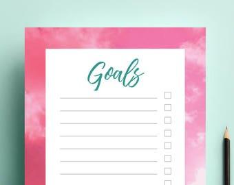 Goals list notes organiser planner