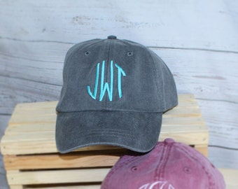Baseball Cap Monogrammed Hat, Bridesmaid Gift, Groomsman Gift, Personalized, Monogrammed