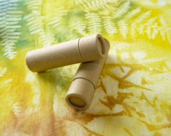 10 Cardboard Lip Balm Tubes - Eco Friendly, Recyclable & Sustainable 1/3 oz