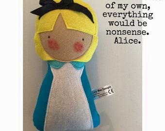 Huggie Alice On Wonderland Doll