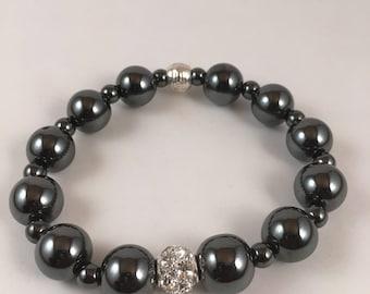 14mm Hematite bracelet #003