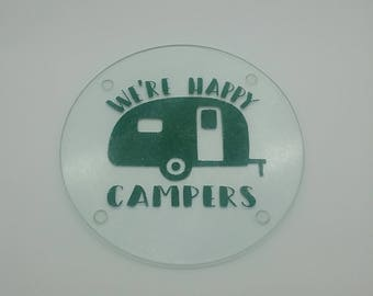 Happy Campers Cutting Board