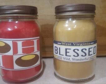Ohio  tribute candles 16 ounce. coconut wax grandma's cherry pie