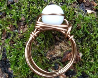 Moonstone Wire - Wrapped Ring