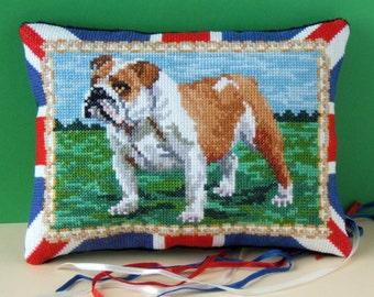 British Bulldog Mini Cushion Cross Stitch Kit
