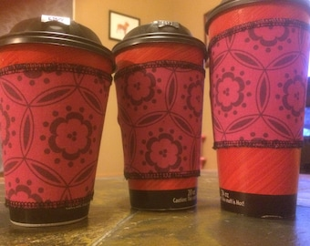 Pink Coffee Sleeve