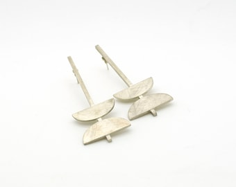 NEW ME Collection - Long Earrings, Sterling Silver, contemporary urban