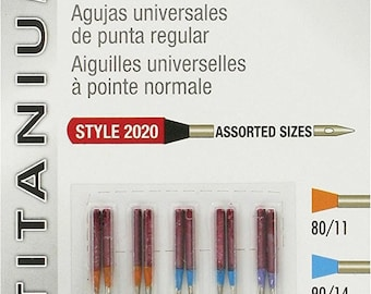 New Best Price! Singer Titanium Universal Regular Point Machine Needles for Woven Fabric, Assorted Sizes, 10-Pack - FAST SHIPPING!