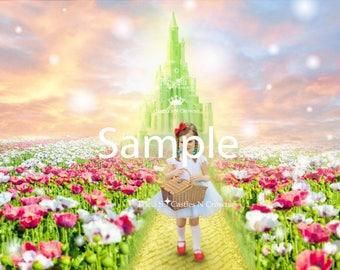 Wizard of Oz Digital Background Digital Backdrop jpeg file