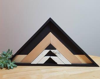 Geometric Home Decor ~Reclaimed Wood Art