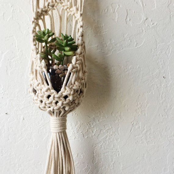 Macrame Hanging Plant Pouch Tutorial Download For