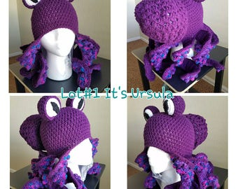 Octopus Beanie Hat *ready to ship* Realistic Tentacles with colorful suckers
