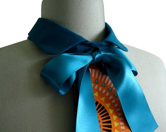 Removable collar tie turquoise Ellenn