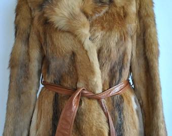 Vintage FOX FUR COAT , women's fur coat ......(226)