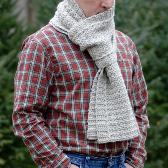 Crochet Pattern Mens Crochet Scarf Pattern Winter Diy Scarf