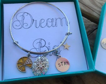 Hand Stamped Rank Add-on Charms ONLY Essential Oil Diffuser Bracelet Charms, Direct Marketing