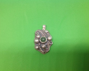 Sterling and fine silver gemstone pendant
