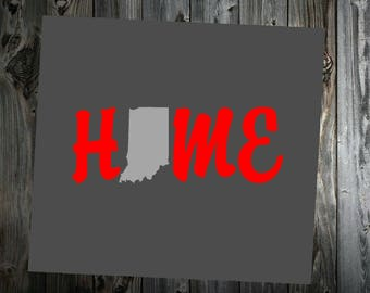 Home (with personalized state) Vehicle Decal