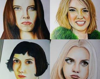Custom portrait drawing Custom Pencil Portraits, Hand Drawn Portraits , pencil Drawing,