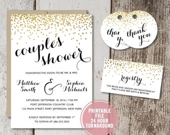 Couples shower invitation printable rustic co ed bridal bridal shower invitation printable couples bridal shower invitation gold foil bridal shower invitation coed bridal shower download print filmwisefo