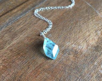 Aquamarine Jewelry - Aquamarine Necklace  - Crystal Necklace - March Birthstone - Gift For Her - Aquamarine - Aquamarine Pendant Necklace