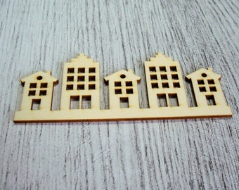 Little house 1079 a cut out of wood for your creation