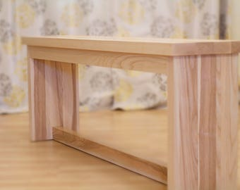 Farmhouse Bench – Dining Bench for Farmhouse Table in Ash Wood