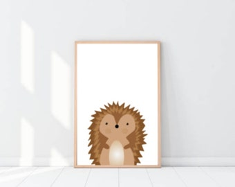 Nursery Wall Art for Girl. Cute Animal Wall Art Prints for Nursery Room