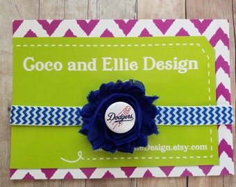 Baby girl la dodgers headband-dodgers headband-dodgers headband for baby/la dodgers baby girl gift/la dodgers for girl
