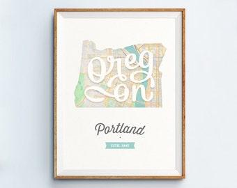 Portland Print - Portland Art - Portland Poster
