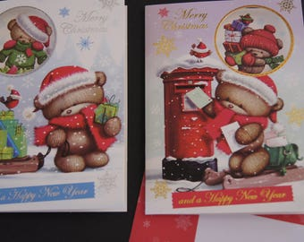 Set of 10 Christmas cards with envelope