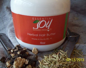 Herbal Hair Butter, 2 oz.  Herbal Pomade,  Natural Hair Product, Hair Treatment, Locs, Hair Styling