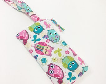 Cute Owls/Pink Owls Zippered Pouch~ Sunglasses Pouch ~ Free Shipping in US