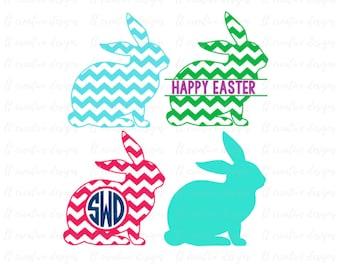 Easter Bunny Svg, Easter Svg, Easter Split Monogram Svg, Easter Basket Svg, Bunny Svg, Silhouette Cut Files, Cricut Cut Files, Svg Files