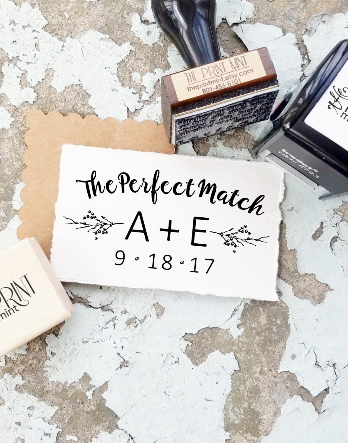Wedding Matchbox Stamp The Perfect Match Wedding Favor