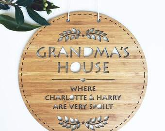 Personalised Bamboo Wall Hanging