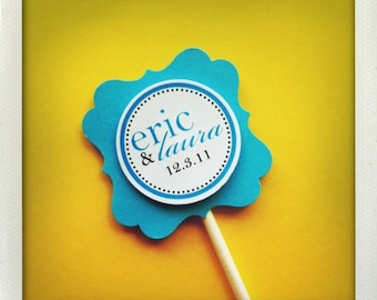Fancy Cupcake Toppers - set of 12