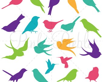 Bird Silhouettes Photoshop Brushes, Bird Photoshop Brushes - Commercial and Personal