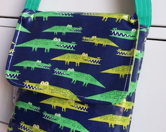 Crocodiles Wipe Clean Mini Messenger Bag
