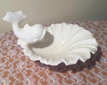 Ceramic Dolphin Soap Dish/Jewelry Dish