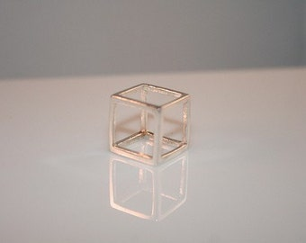 Sterling Silver Cube Pendant