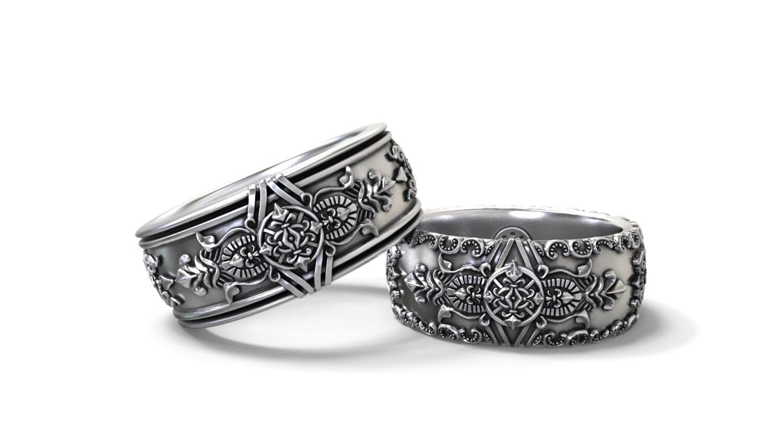 zoom - Gothic Wedding Ring