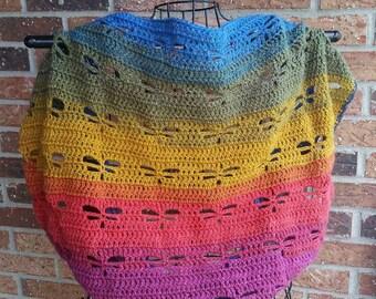 Dragonfly Blanket Sweater, Crochet Shrug, made to order