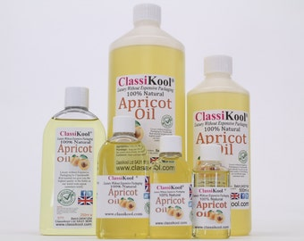Classikool Pure Cold Pressed Apricot Oil for Aromatherapy & Massage (Free UK Mainland Postage)