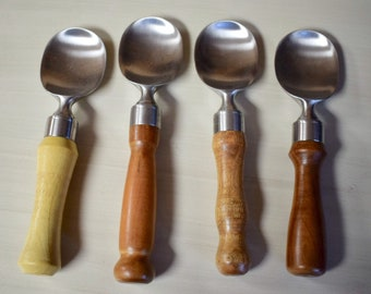 Ice Cream Scoops - Paddle Style - with Exotic Wood Handles