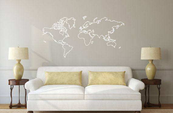 World map outline decal sticker db374 gumiabroncs Gallery
