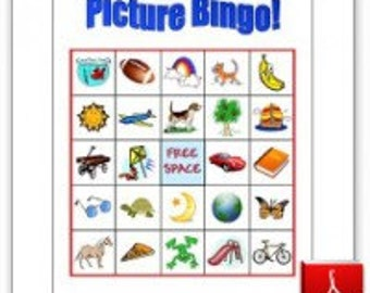 10 Printable Picture Bingo Cards for Toddlers and Preschoolers